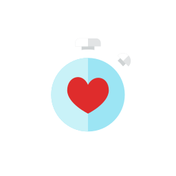 heart, watch icon