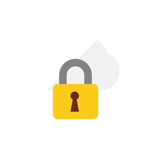 cloud, locked icon