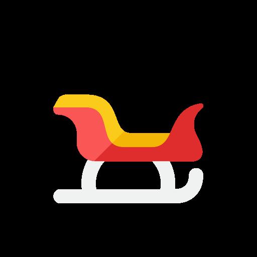 santa, sled icon