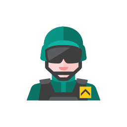 3, soldier icon