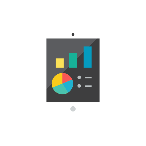 chart, tablet icon
