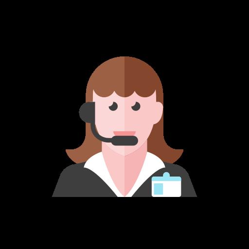 2, telemarketer, woman icon