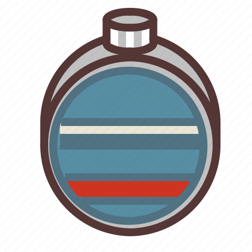camping, canteen, drink, hiking, outdoors, water, water bottle icon