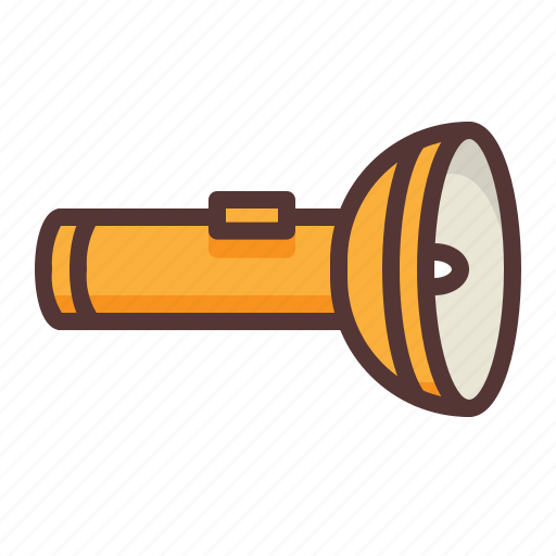 camping, flashlight, light, outdoors, torch icon