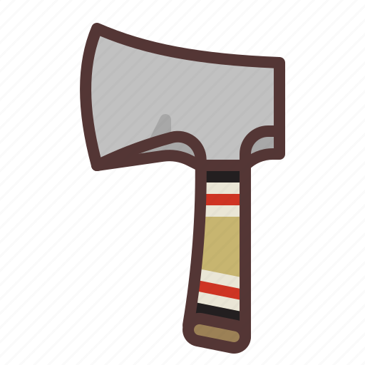 axe, camping, chop, hatchet, outdoors, survival icon