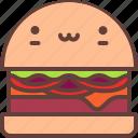 burger, cheeseburger, fast, food, french