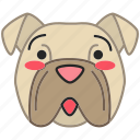 bulldog, bulldog icon, dog, kawaii icon