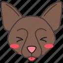 border collie, border collie icon, dog, kawaii