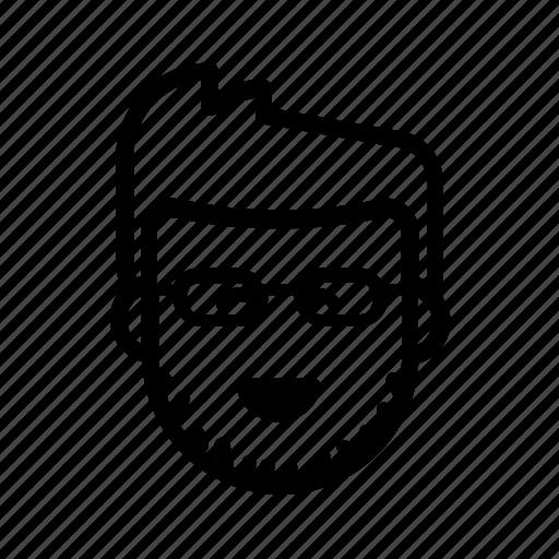 coder, developer, geek, glasses, kawaii, programmer, stubble icon