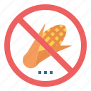 banned, corn, forbidden, no, prohibited icon