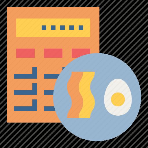 calculator, calories, diet, ketogenic, nutrition icon