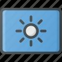brightness, keyboard, type, up icon