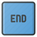 end, keyboard, type icon