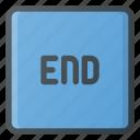end, keyboard, type