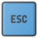 esc, keyboard, type icon