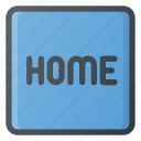 home, keyboard, type icon