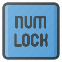 keyboard, lock, num, type icon