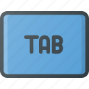keyboard, tab, type icon
