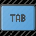 keyboard, tab, type