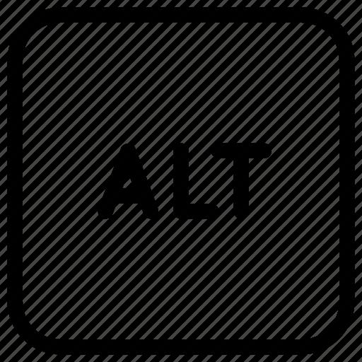 alt, alternate, keyboard, keys, modifier icon