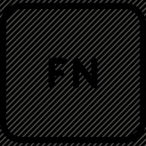 fn, function, keyboard, keys, letter icon