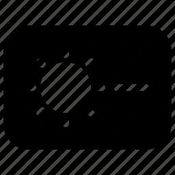brightness, down, keyboard, keys, minus icon