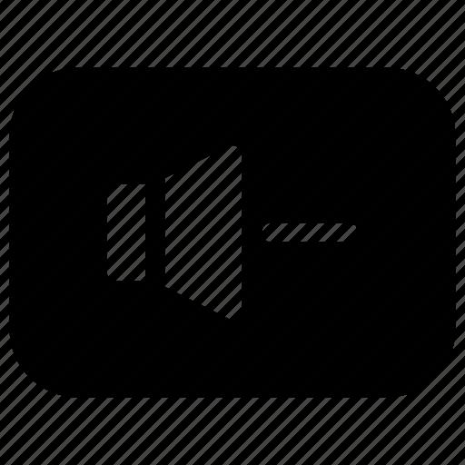 down, keys, minus, reduce, volume icon