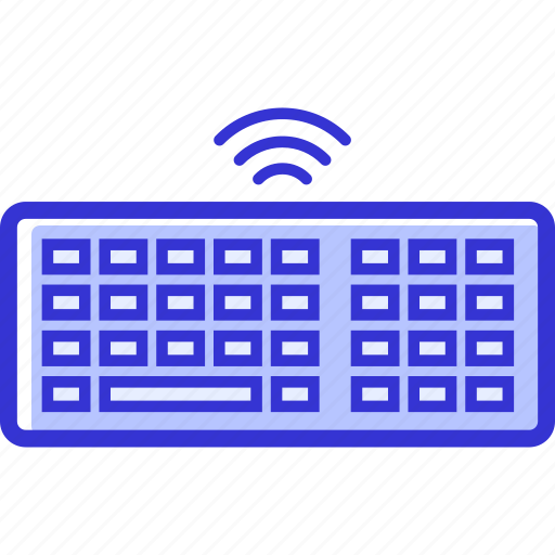 computer, keyboard, technology, wireless icon