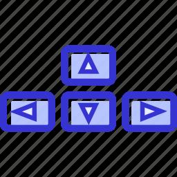 arrows, computer, direction, keyboard arrows icon