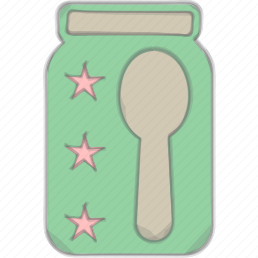 baby food, baby meal, mash food, spoon icon