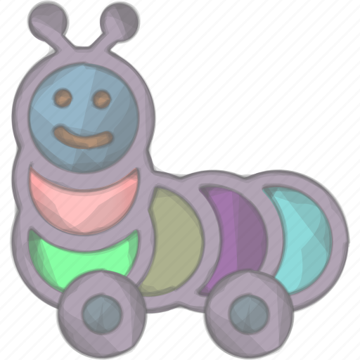 Caterpillar, kid, play, toy icon - Download on Iconfinder