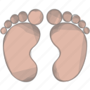 baby, feet, newborn, walk icon