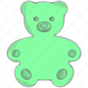 bear, kid, play, toy icon