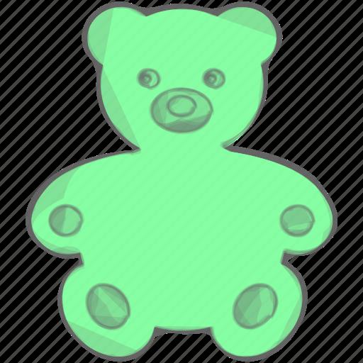 bear, kid, play, toy icon