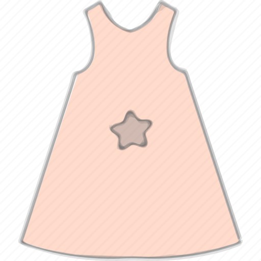 baby apparel, baby dress, kid, summer dress icon