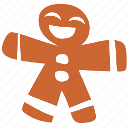 boy, christmas, cookie, face, gingerbread, man, smile icon