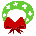 christmas, decoration, garland, prize, winter, wreath, xmas icon