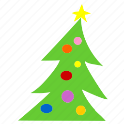 christmas, decoration, flower, green, tree, winter, xmas icon