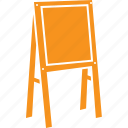 easel, activity, kids room, drawing, art icon
