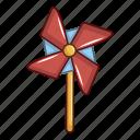 blue, cartoon, childhood, object, pinwheel, toy, wind