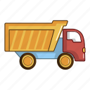 object, toy, fun, plastic, cartoon, vehicle, truck icon