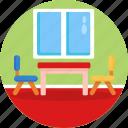 chair, seat, classroom, table, kindergarden, furniture