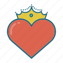 crown, heart, hearts, king, love, queen, valentines