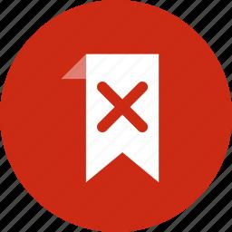 bookmark, delete, favorite icon