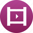 film, film reel, film roll, filmroll, movie, play button, video icon