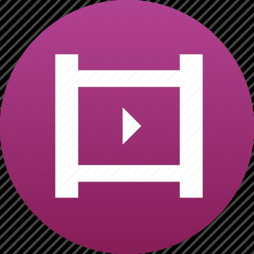 film, film reel, film roll, filmroll, movie, play button, video icon