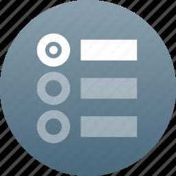 list, poll icon