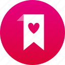 bookmark, favorite, heart icon
