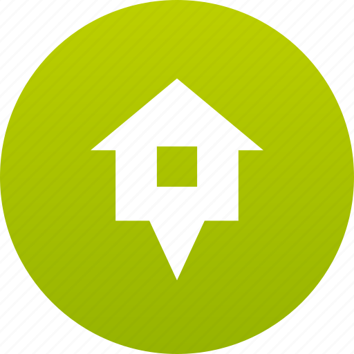 Home, house, map marker, marker icon - Download on Iconfinder