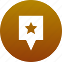 favorite, map marker, marker, star icon